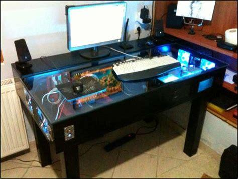 pc gaming desk case other desk builds l3p