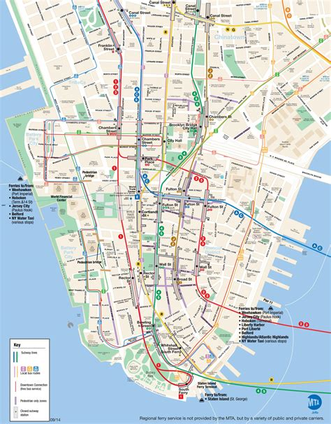 map of lower usa map of lower manhattan