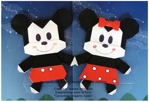 Mickey Mouse Origami - mickey mouse minnie mouse 1 l origami pas 224 pas