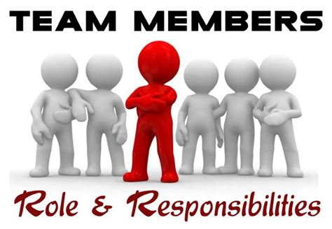 roles and responsibilities of team members in a team