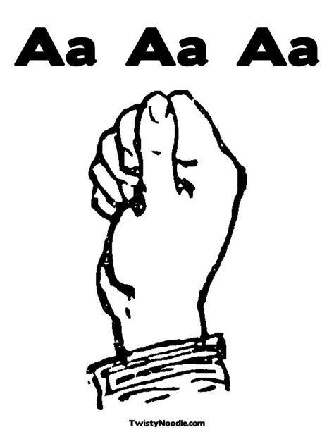 free c sign language coloring pages