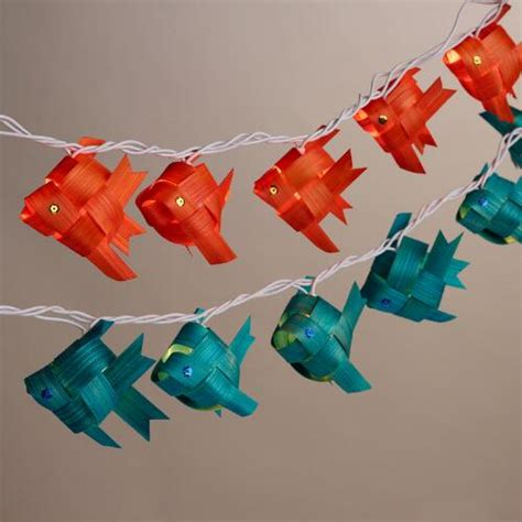 20 bulb string lights bamboo fish 20 bulb string lights set of 2 world market
