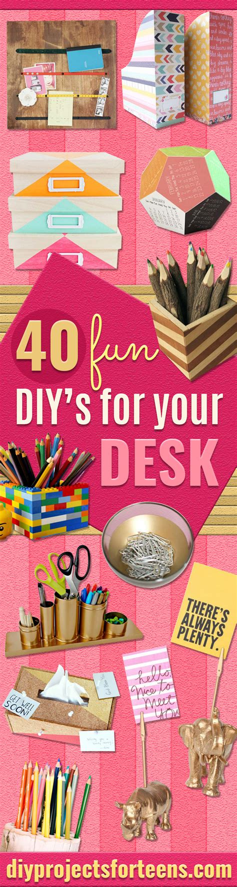 website for diy projects 40 diys for your desk