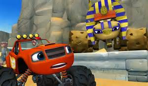 Blaze and the monster machines the sphinx race to the top of the world