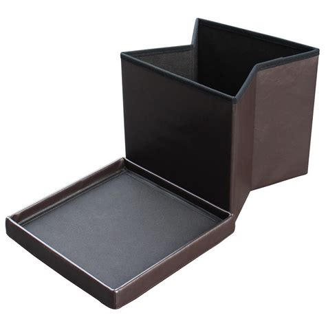 foldable storage ottoman with lid faux leather folding ottoman storage cube with padded lid