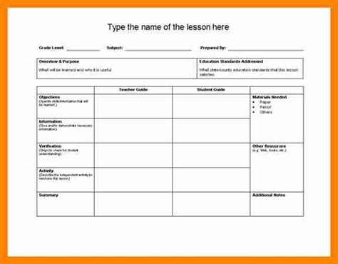 co teaching lesson plan templates elementary lesson plan template 6 co teaching lesson plan