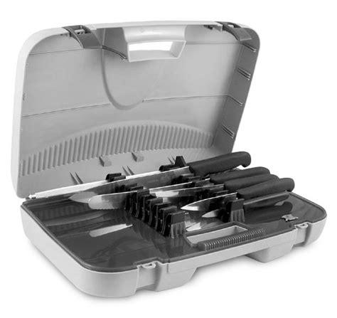 victorinox gourmet knife set 24 piece black fibrox victorinox fibrox deluxe knife attache case set 7 piece
