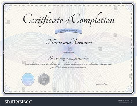 certificate completion template vector florist botany