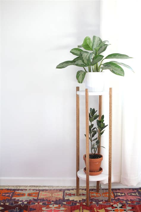 Diy Plant Holder - mid century inspired plant stand diy a beautiful mess