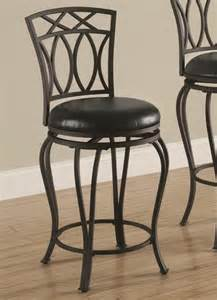 Dining Chairs And Barstools Buy Dining Chairs And Bar Stools 24 Quot Metal Barstool With Black Faux Leather Seat By
