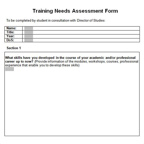 training needs assessment 14 download free documents in