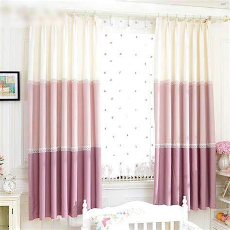curtain for girl room korean bay window curtains with lace girls room