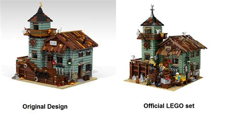 Interesting House Designs the lego 21310 old fishing store combines rustic charm