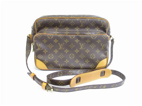 louis vuitton monogram leather brown messengercross body