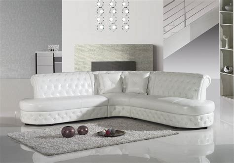 Furniture Sectional by Divani Casa 2818c Modern White Leather Sectional Sofa