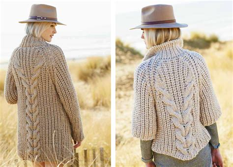 free knitting patterns chunky cardigans creative twist chunky free knitting pattern