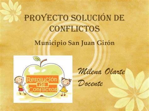 solucion de conflictos en nios proyecto soluci 243 n de conflictos