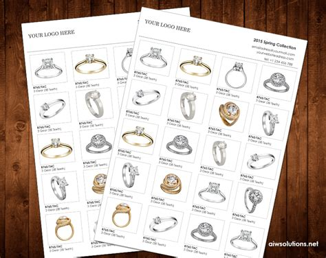 jewelry brochure template wholesale linesheet template line sheet template product