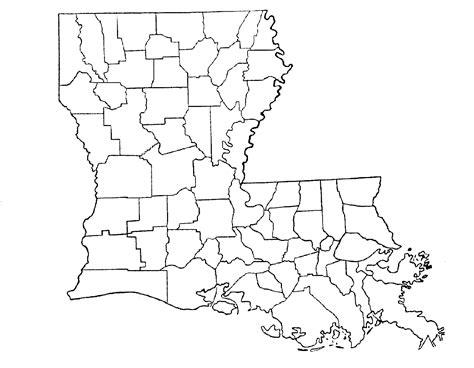 louisiana map blank non