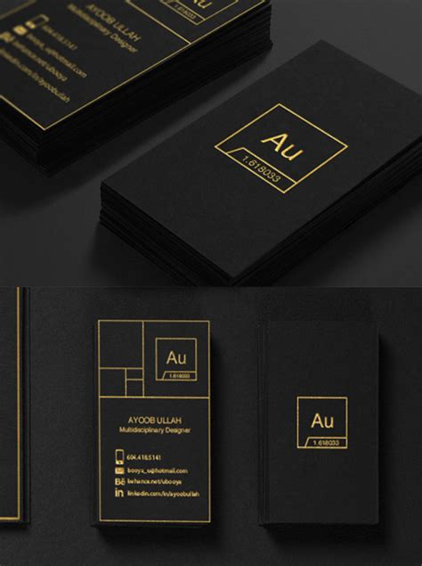 sleek business card design sleek black business card cardobserver
