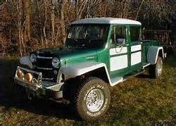 willys jeep truck green 4 door willys truck green white running boards winch