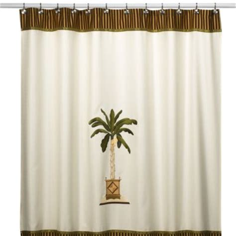 avanti banana palm shower curtain buy banana palm from bed bath beyond