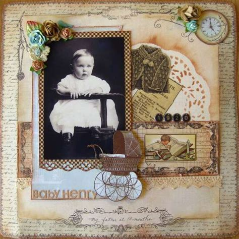 layout vintage vintage layout scrapbook ideas pinterest