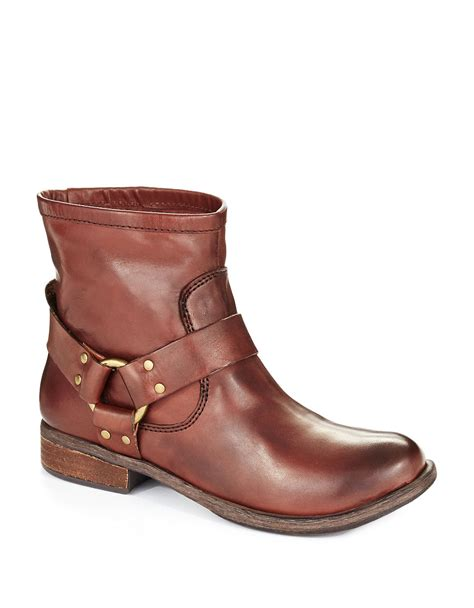 lucky brand reuben high ankle boots in brown lyst