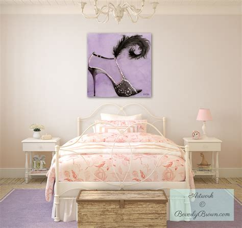 shabby chic teenage bedroom trendy teen or tween girls bedroom with canvas fashion art