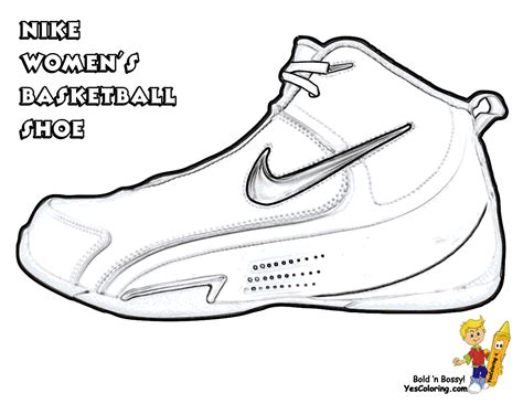 coloring pages basketball shoes powerhouse girls basketball coloring wnba basketball