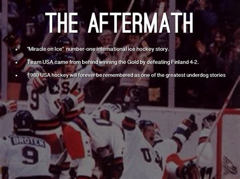 The Miracle Story Hockey Miracle On By Matt O Brien