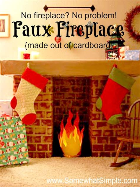 How To Make In A Fireplace by Faux Fireplace How To Make A Fireplace With Cardboard