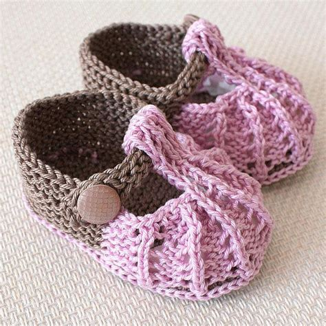 knitted baby sandals free pattern knit baby shoes free patterns