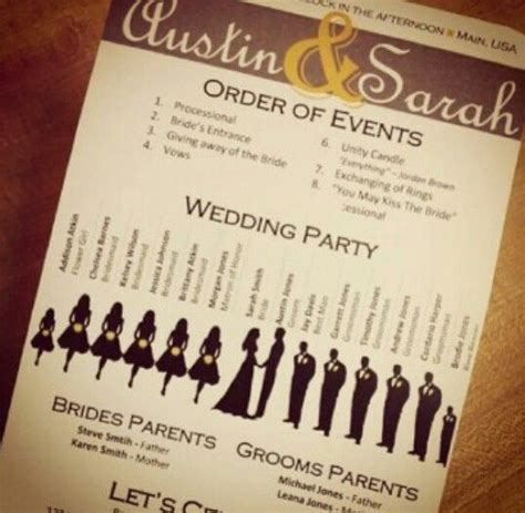 cool wedding programs unique wedding programs your guests won t to about the names of the in your