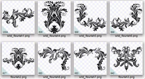 baroque pattern brush whimzy treasures designs baroque flourish brushes ps pse