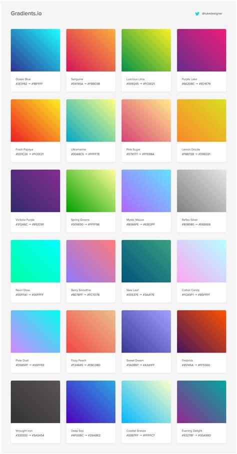 gradient color gradients color palettes graphisme design graphique