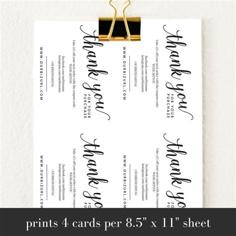 Business Thank You Cards Templates