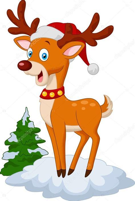 imagenes de navidad venados dibujos animados de ciervos de la navidad dulces vector