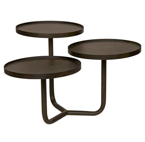 gold metal end table gregor industrial loft antiqued gold metal side end table
