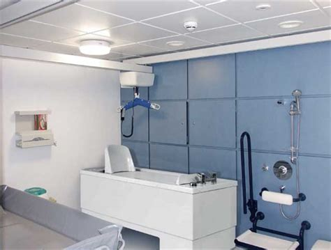 the benefits of ceiling track hoists in a disabled bathroom