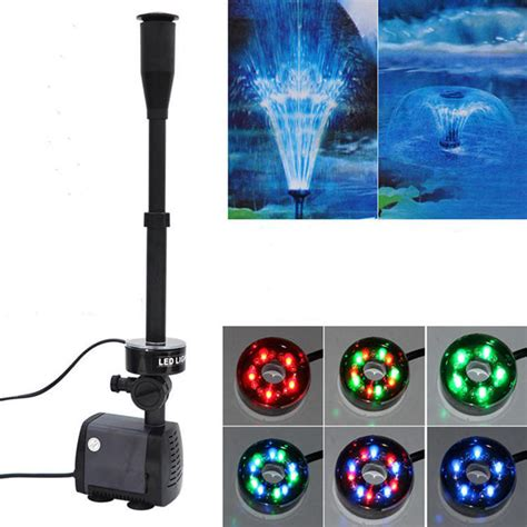 Led Lightlu Hias 40 Led Warna 40w 2000l h fish pond aquarium led submersible water garden decoration led