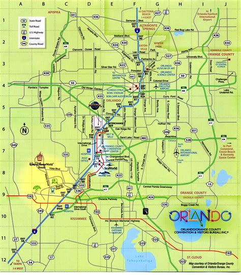 map of orlando fl orlando florida map free printable maps