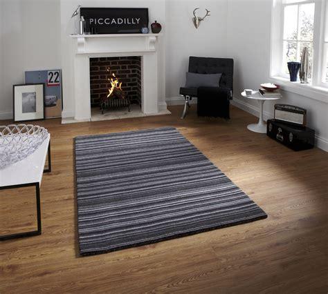 striped floor rug knotted striped oxford rug modern 100 wool large soft designer floor mat