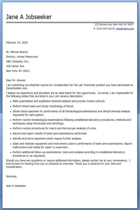 cover letter for technician the world s catalog of ideas