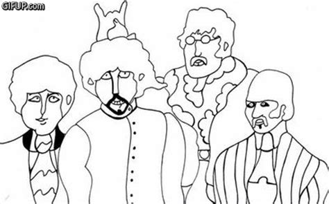 imagenes de john lennon para colorear the beatles yellow submarine dibujo taringa