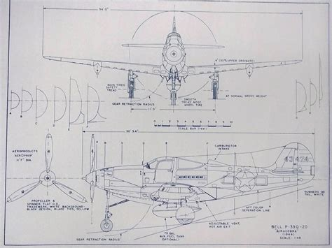 blueprint plans bell p 39 airacobra airplane blueprint by blueprintplace