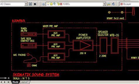 format dwg adalah contoh rab dan gambar autocad pekerjaan sound system fire