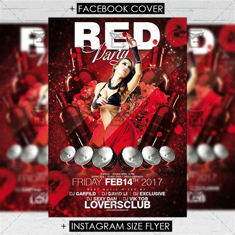 red party premium flyer template exclsiveflyer free