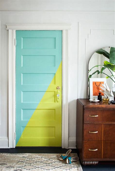 colorful door 22 clever color blocking paint ideas to make your walls pop