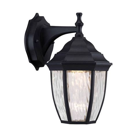 hton bay outdoor black led wall lantern the home